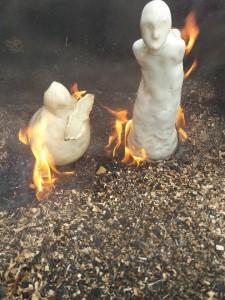 Výpal Raku - čtvrté pálení